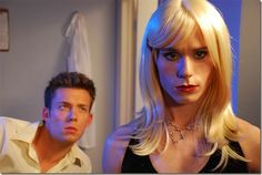 Actor Sean Kaufmann femulating in the 2008 film titled Stiff Luv.