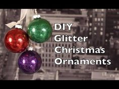 This Christmas ornament DIY will teach you how to make a glitter Christmas ornaments at home with only a few supplies. This tutorial does not take very much . Quilted Christmas Ornaments, Christmas Diy, Glitter Ornaments, Outdoor Christmas Decorations, Diy Weihnachten, Christmas Crafts, Diys, Giant Tree, Beach Stones