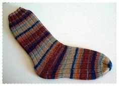 Tube socks - no heel - knit 5, purl 2 for ribbing or use stockingette stitch