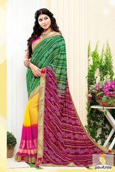 #Multi #Pink #Georgette #Silk Festival Saree with Bandhej Print #saree, #designersaree, #sareeonline, #partywearsaree, #indiansaree, #sareecollection, #sareesonlineshopping, #buysareeonline, #fashionsaree, #latestsaree,   #newsarees, #sareewithblouse, #weddingsareeonline, #designerblouse, #bridalsaree More Product : http://www.pavitraa.in/store/designer-sarees/?utm_source=mk&utm_medium=pinterestpost&utm_campaign=6Jan Any Query :  Call / WhatsApp : +91-76982-34040