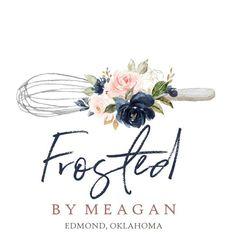 Meagan Chittenden added a photo of their purchase Watercolor Flower, Watercolor Logo, Instagram Logo, Logo Branding, Catering Logo, Baking Logo, Cake Logo Design, Flower Logo, Geometric Logo