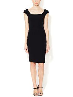 DOLCE & GABBANA - Squareneck Sheath Dress
