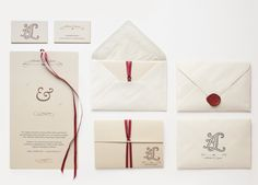 Wedding invitations by Bombo Estudio, via Behance