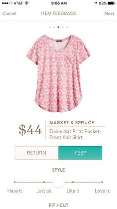 Market and Spruce Elaine knit shirt