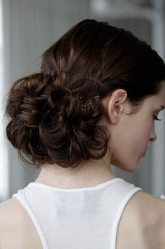 Wedding day hair from the Marchesa Spring 2013 runway show. See more bridal beauty looks: http://ccwed.me/Izo9HA