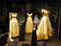 Left to right: Norman Hartnell dresses worn by Princess Margaret, the Duchess of Kent, and Queen Elizabeth The Queen Mother, for the Coronation, 1953. See: http://londonlivingsue.blogspot.com/2013/07/why-not-vist-buckingham-palace-in-this.html