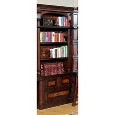 Parker House Corsica 2Pc Lateral File & Hutch in Antique Vintage Dark Chocolate