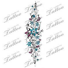I would turn it .... but cute!  Floral Filigree Tattoo