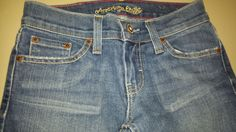 American Eagle Hipster Jeans Blue Boot Cut Womens Sz 0 Short #AmericanEagleOutfitters #BootCut