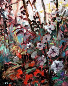 Ivy Delon Fine Art-Blossoms In Shadow