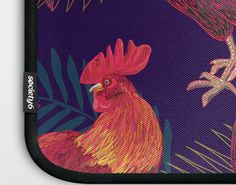 2017 Rooster year Laptop Sleeve by Anna Koto   Society6