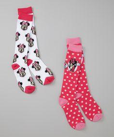 Minnie Mouse Knee High Socks Set : Stocking Stuffer