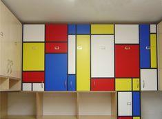 Mondrian Furniture piet mondrian painted pc table desk furniturechrlie roe