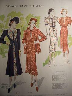 1937 MCCALLS FASHION Pattern Advertisement by VintagePaperGallery