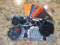 I LOVE this idea! I have so many of these cards stuck in my wallet. What a great way to stow them