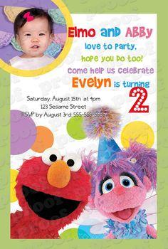 Sesame Street Birthday Invitation - Printable ELMO and ABBY