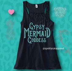 GYPSY MERMAID GODDESS Flowy racerback super by SpottyCatApparel