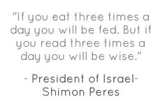 by President of Israel- Shimon Peres
