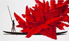 Un viaje por Colombia en las canoas de Pedro Ruiz Painting Collage, Paintings, Impressionism, Gallery, Illustration, Plants, Photography, Beautiful, Art Ideas