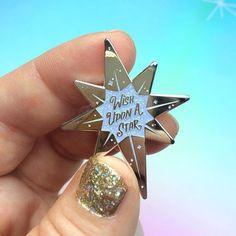 Christmas Star Pin Wish Upon A Star Pin North Star Pin #pinsandpatches