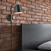 """Safavieh Lighting Kensley Wall Sconce - 5.9"""" x 21"""" x 19.5"""" - Overstock - 32201266 Plug In Wall Lamp, Swing Arm Wall Sconce, Wall Sconces, Bronze Bedroom, Ceiling Fan Price, Industrial Chic Style, Wall Lights, Ceiling Lights, Lighting Store"""