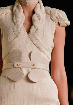 Alexander McQueen Spring 2012 - I want that belt and love the textures of the outfits!