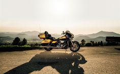 Télécharger fonds d'écran Harley-Davidson Ultra Limited, route, touring, superbikes, american motos, Harley-Davidson, 2017 vélos