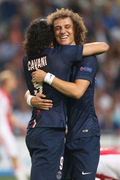 David Luiz and cavani