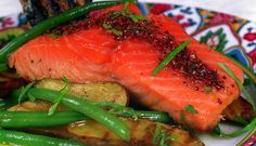 Grilled Norwegian Salmon with Pink Peppercorns