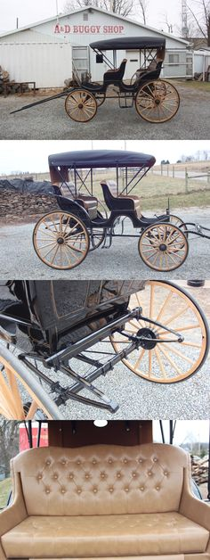 Other Driving Equipment 13376: Horse Drawn Auto Top Surrey Wagon Carriage Buggy Sleigh Cart Antique -> BUY IT NOW ONLY: $4600 on eBay!