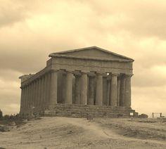 Greek Temple of Concordia, Valle Dei Templi, Agrigento, Sicily