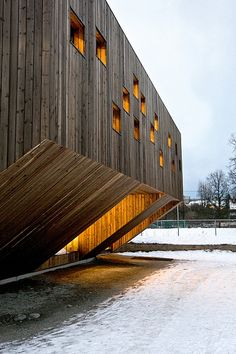 Fagerborg Kindergarten, Oslo, by Søren Harder Nilsen and Nyebilder.no.  This kindergarten was aimed specifically at providing children, who are normally not consulted in the design of their environments, a rich architectonic experience.