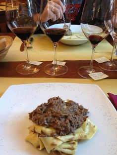 Wild Boar Pappardelle, and some Tuscan Wines. It was @ Enoteca Tognoni, Bolgheri.