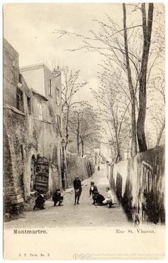 Rue St Vincent, Old Montmartre
