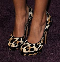 Another pair of leopard shoes I love. Shocking