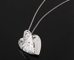 Sterling Silver Heart Photo Locket
