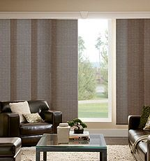 sliding panel track blinds