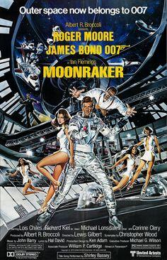Ian Fleming's Moonraker sees James Bond stopping villians in space. Also the Bond film starring Roger Moore. Roger Moore, Richard Kiel, James Bond Movie Posters, James Bond Movies, Cinema Posters, Claude Barzotti, Philippe Leotard, Francois Feldman, Celebrity