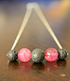 Now here's an interesting idea: using lava rock beads as essential oil diffusers. I will have to try this.