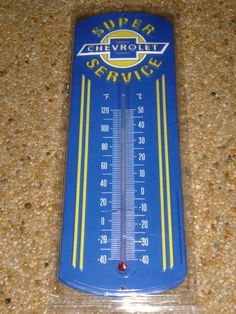 NEW Thermometer CHEVY Service Metal Advertising Garage Dealer Man-Cave Workshop  #OpenRoadBrands
