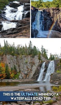 From Gooseberry to Grand Portage, you'll love this road trip featuring MN's best waterfalls! Weekend Trips, Vacation Trips, Day Trips, Vacations, Vacation Ideas, Places To Travel, Places To See, Travel Stuff, Travel Destinations
