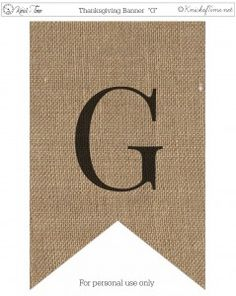 Rustic Burlap Banner Letters - Knick Of Time