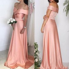 Robe Soiree Femme 2019 Elegant Pink Evening Dress Long Off the Shoulder Formal Dresses For Wedding Party Sexy Prom Gown Vintage Style Bridesmaid Dresses, Petite Bridesmaids Dresses, One Shoulder Bridesmaid Dresses, Bridesmaid Dresses Plus Size, Wedding Dresses, Party Dresses, Bridesmaid Ideas, Occasion Dresses, Formal Dresses
