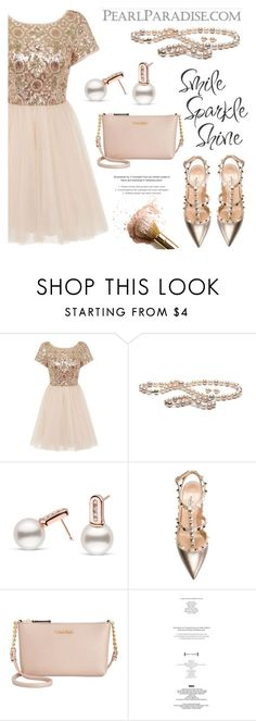 """""""Smile, sparkle, shine!"""" by pearlparadise ❤ liked on Polyvore featuring Chi Chi, Valentino, Calvin Klein and StyleNanda"""