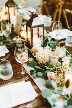 We would like to get you some inspiration on how to rock rustic wedding lanterns in your big day. We gathered super chic and fabulous examples for you! Rectangle Table Centerpieces, Rectangle Wedding Tables, Wedding Table Centerpieces, Wedding Table Settings, Centerpiece Ideas, Rustic Lantern Centerpieces, Setting Table, Place Setting, Rustic Wedding Decorations