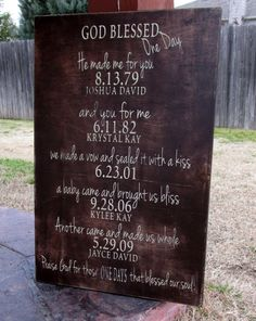 Important Dates What a difference a day makes by HeritageDesignsTH, $59.00
