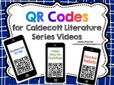 These iPod QR codes can be used on most devices with a camera. You will need a QR reader application. The QR code links to specific videos on the Caldecott Literature Series web site. These videos are only available for viewing in the United States. Library Skills, Library Lessons, Library Ideas, Storyline Online, Class Newsletter, Learning Stations, 2nd Grade Reading, Library Programs, Readers Workshop