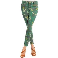 cabi Clover Camo Jeggings ($50) ❤ liked on Polyvore