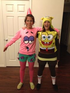 Spongebob and Patrick costume(: