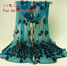 new deals! Shop our best value Peacock Print Scarf on AliExpress. Check out more Peacock Print Scarf items in Apparel Accessories, Home & Garden, Women's Clothing, Jewelry & Accessories! And don't miss out on limited deals on Peacock Print Scarf! Peacock Print, Peacock Design, Peacock Blue, Peacock Decor, Peacock Colors, Peacock Feathers, Lace Scarf, Scarf Wrap, Teal Scarf